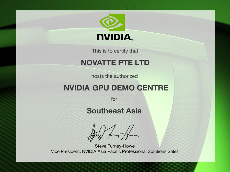 NVIDIA GPU Demo Center NOVATTE
